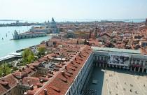 Italien, Venedig, Aussicht vom Campanile am Markusplatz