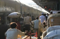 Indien, New Dehli, trains, Old Dehli Train Station